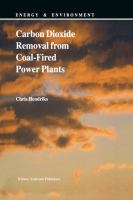 Cover image for Carbon dioxide removal from coal-fired power plants