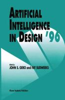 Cover image for Artificial intelligence in design '96