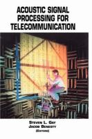 Cover image for Acoustic signal processing for telecommunication