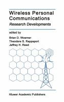 Cover image for Wireless personal communications : research development