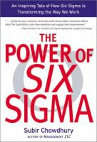 Cover image for The power of six sigma : an inspiring tale of how six sigma is transforming the way we work