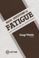 Cover image for Basic questions in fatigue