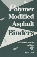 Cover image for Polymer modified asphalt binders