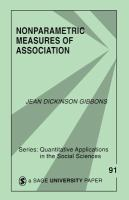 Cover image for Nonparametric measures of association