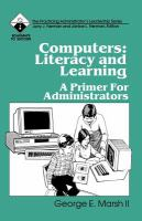 Cover image for Computers : literacy and learning : a primer for administrators