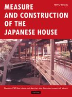 Cover image for Measure and construction of the Japanese house