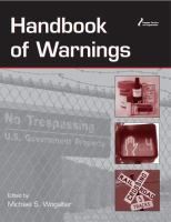 Cover image for Handbook of warnings