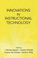 Cover image for Innovations in instructional technology : essays in honor of M. David Merrill