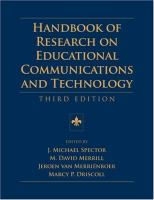 Cover image for Handbook of research on educational communications and technology