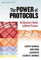 Cover image for The power of protocols : an educator's guide to better practice