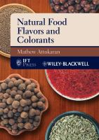 Cover image for Natural food flavors and colorants
