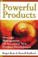 Cover image for Powerful products : strategic management of successful new product development