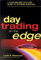 Cover image for Day trading on the edge : a look-before-you-leap guide to extreme investing