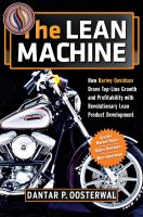 Cover image for The lean machine : how Harley-Davidson drove top-line growth and profitability with revolutionary lean product development