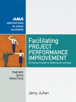 Cover image for Facilitating project performance improvement : a practical guide to multi-level learning