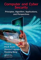 Cover image for Computer and Cyber Security : Principles, Algorithm, Applications, and Perspectives