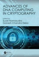 Cover image for Advances of DNA computing in cryptography