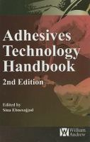 Cover image for Adhesives technology handbook