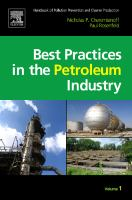 Cover image for Handbook of pollution prevention and cleaner production : best practices in the petroleum industry