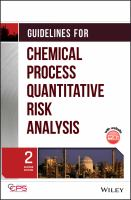 Cover image for Guidelines for chemical process quantitative risk analysis