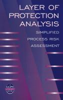 Cover image for Layer of protection analysis : simplified process risk assessment