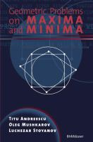 Cover image for Geometric problems on maxima and minima