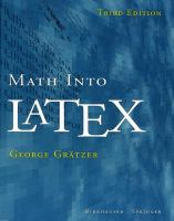 Cover image for Math into LaTeX
