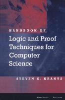 Cover image for Handbook of logic and proof techniques for computer science