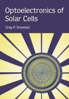 Cover image for Optoelectronics of solar cells