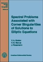 Cover image for Spectral problems associated with corner singularities of solutions of elliptic equations