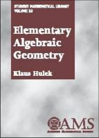 Cover image for Elementary algebraic geometry