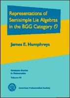 Cover image for Representations of semisimple lie algebras in the BGG category O