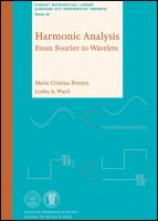 Cover image for Harmonic analysis : from Fourier to wavelets