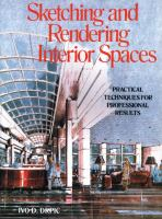 Cover image for Sketching and rendering interior spaces : practical techniques for professional results