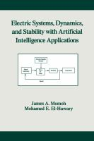 Cover image for Electric systems, dynamics, and stability with artificial intelligence applications