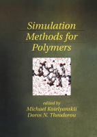 Cover image for Simulation methods for polymers