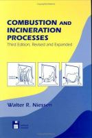 Cover image for Combustion and incineration processes