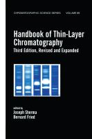 Cover image for Handbook of thin-layer chromatography
