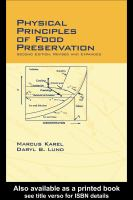 Cover image for Physical principles of food preservation