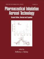 Cover image for Pharmaceutical inhalation aerosol technology