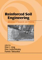 Cover image for Reinforced soil engineering : advances in research and practice