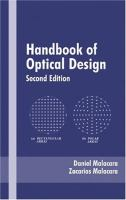 Cover image for Handbook of optical design
