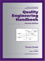 Cover image for Quality engineering handbook