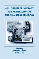 Cover image for Cell culture technology for pharmaceutical and cell-based therapies
