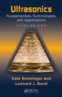 Cover image for Ultrasonics : fundamentals, technologies, and applications