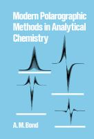 Cover image for Modern polarographic methods in analytical chemistry