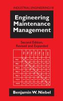 Cover image for Engineering maintenance management
