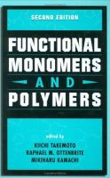 Cover image for Functional monomers and polymers
