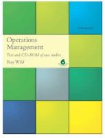Cover image for Operations management : text and CD-ROM