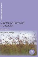 Cover image for Quantitative research in linguistics : an introduction